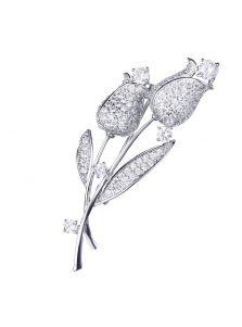 Элитная брошь - Двойной тюльпан