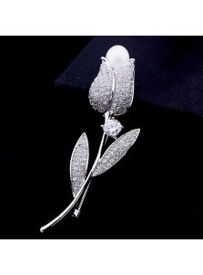 Элитная брошь - Тюльпан