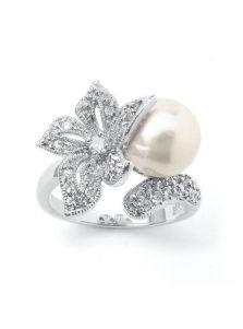 Кольцо - Цветок жемчуга