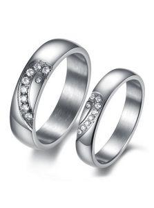 Кольца для двоих - Силуэт сердца