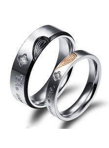Кольца для влюбленных - Половинки сердца