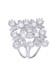 Кольцо для платка - Перламутровый цветок