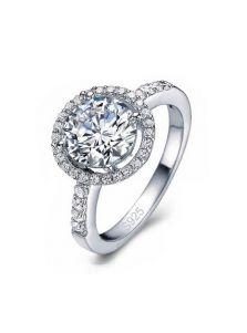 Кольцо - Круглый кристалл