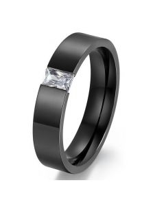 Кольцо - Прямоугольный фианит