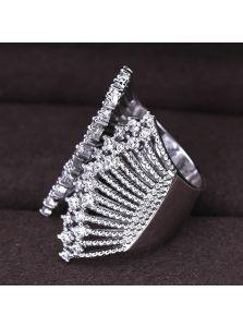 Кольцо-зажим - Кристальная паутина