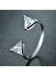 Кольцо-зажим - Треугольный камень