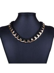 Ожерелье - Тканевая цепь