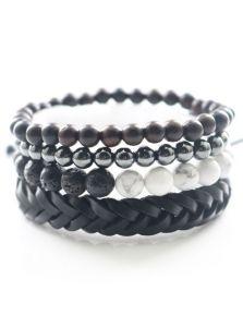 Комплект браслетов - Из бирюзы