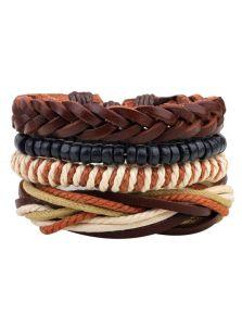 Комплект браслетов - Косичками