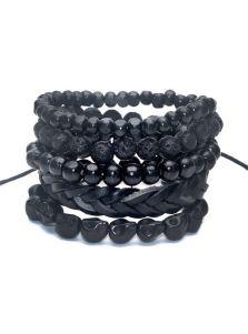 Комплект браслетов - С лавой