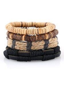 Комплект браслетов - С соломой