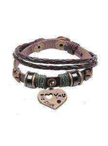 Кожаный браслет - Любовь