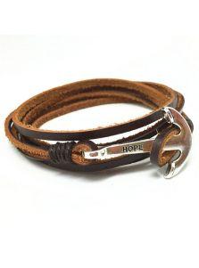 Кожаный браслет - Адмиралтейский якорь