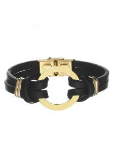 Кожаный браслет - Альфа