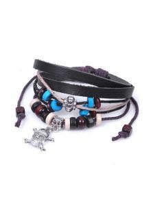 Кожаный браслет - Череп