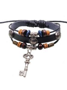 Кожаный браслет - Ключ