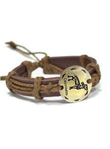 Кожаный браслет - Козерог