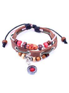 Кожаный браслет - Красное ядро