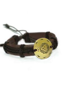 Кожаный браслет - Лев