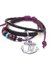 Кожаный браслет - Морской