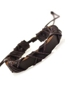 Кожаный браслет - Переплетение