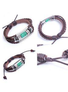 Кожаный браслет - Плетеный