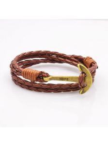 Кожаный браслет - Надежда
