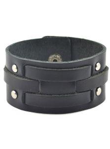Кожаный браслет - Полосы