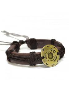 Кожаный браслет - Рак