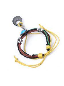Кожаный браслет - Разноцветный