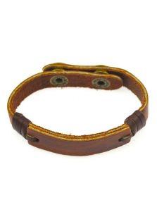 Кожаный браслет - С пластиной