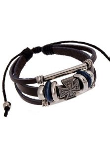 Кожаный браслет - Сакральный