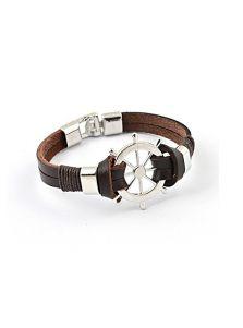 Кожаный браслет - Штурвал