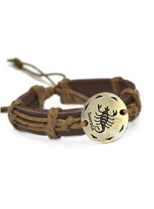 Кожаный браслет - Скорпион