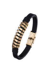 Кожаный браслет - Спираль
