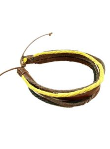 Кожаный браслет - Яркий
