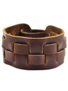 Кожаный браслет - Змейка