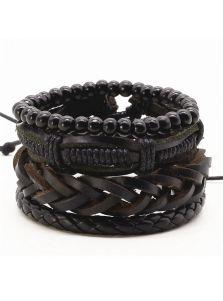 Кожаный набор браслетов - Анаконда