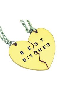 Кулоны для двоих друзей - Best bitches