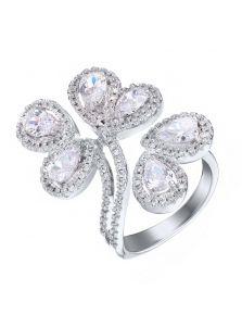Массивное кольцо - Фианитовое