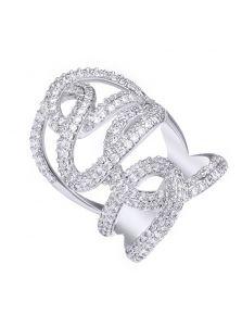 Массивное кольцо - Кружевное