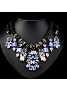 Модное колье - Кристальные цветы