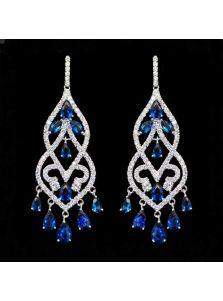 Продолговатые серьги - Античный бриллиант