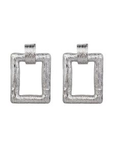 Массивные серьги - Рифленый металл