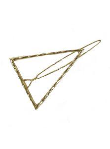 Металлическая заколка - Граненый треугольник