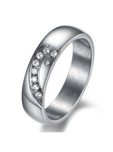 Мужское кольцо - Силуэт сердца