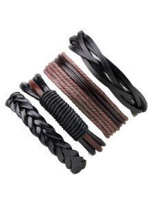 Набор браслетов - Из кожи