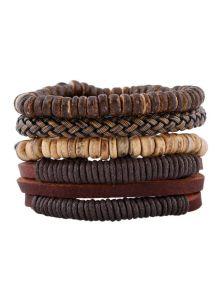 Набор браслетов - С бусинами