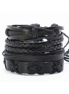Набор кожаных браслетов - Ганаки
