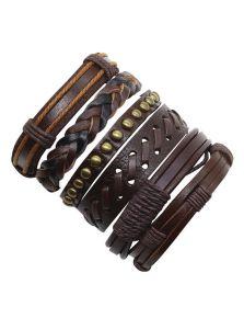 Набор кожаных браслетов - Ковбой